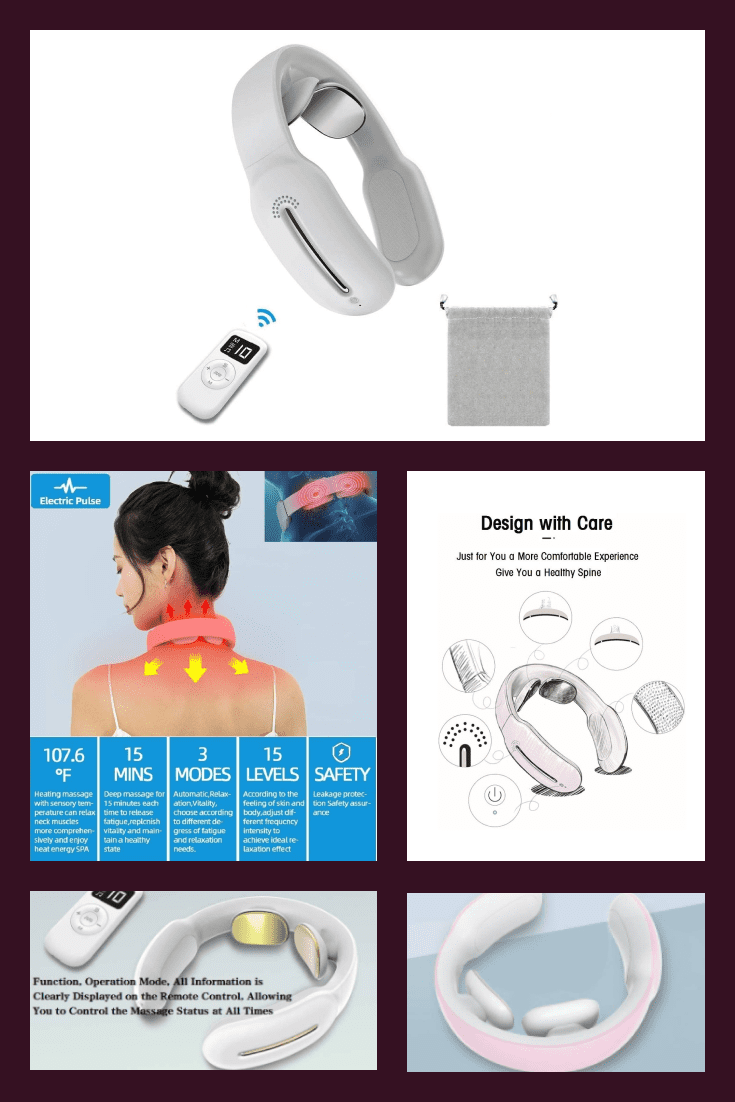 Compact white neck massager. Now you can relax at your workplace.