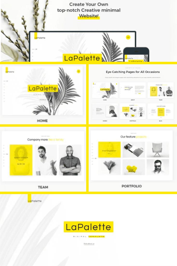 Minimalistic and sunny design will create a cute opinion about your portfolio.