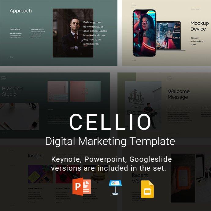 CELLIO Digital Marketing Presentation Example.