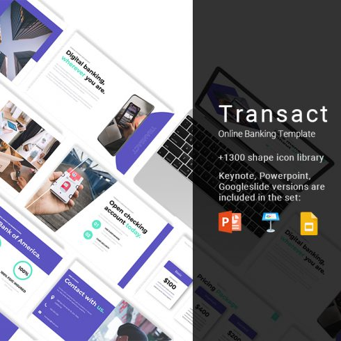 Transact Online Banking Presentation Example.
