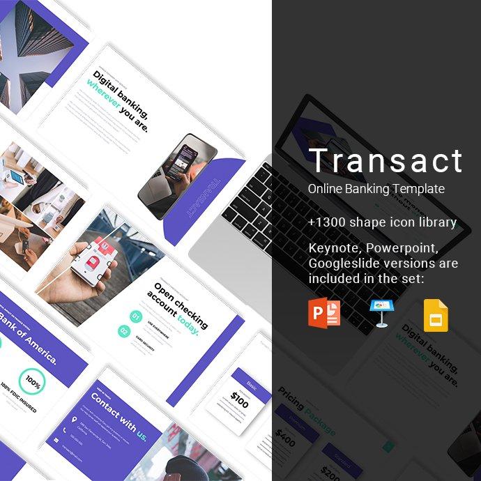Transact Online Banking Presentation Example.
