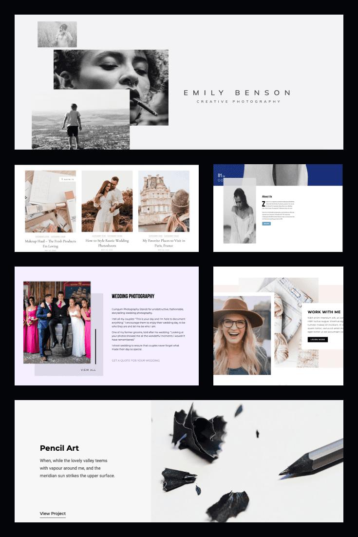 The best Photography WordPress Themes. Pinterest Image.