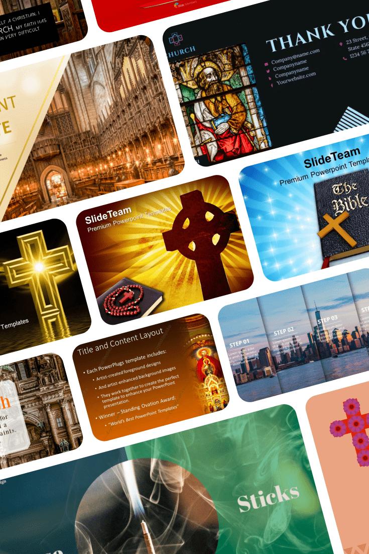 Church PowerPoint Templates. Pinterest Collage.
