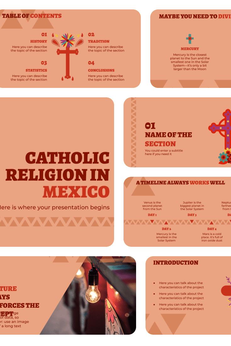 Catholic Religion in Mexico. Collage Image.
