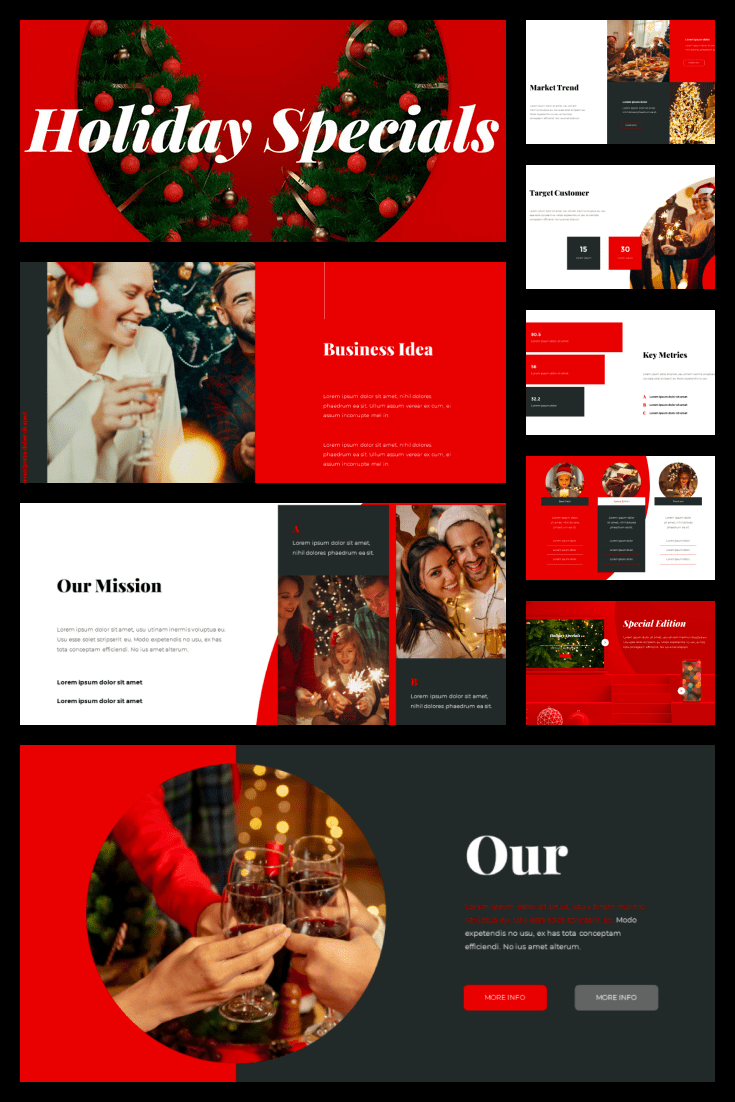 Holiday Specials Concept Template Business PPT. Collage Image.