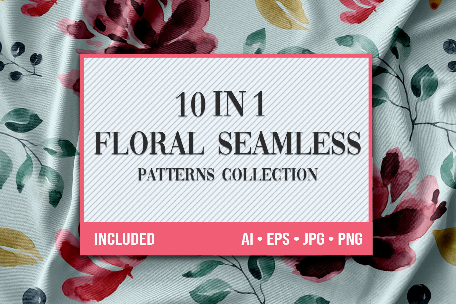 Main image.Floral Seamless Patterns Collection.