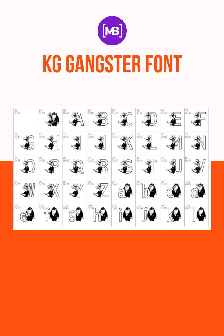 The originally executed font is fully adapted to the gangster theme. Gangster Fonts.