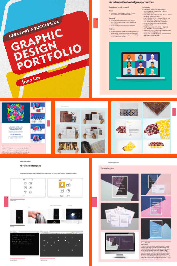 TCreating a Successful GraphicDesign Portfolio. Cover Collage.