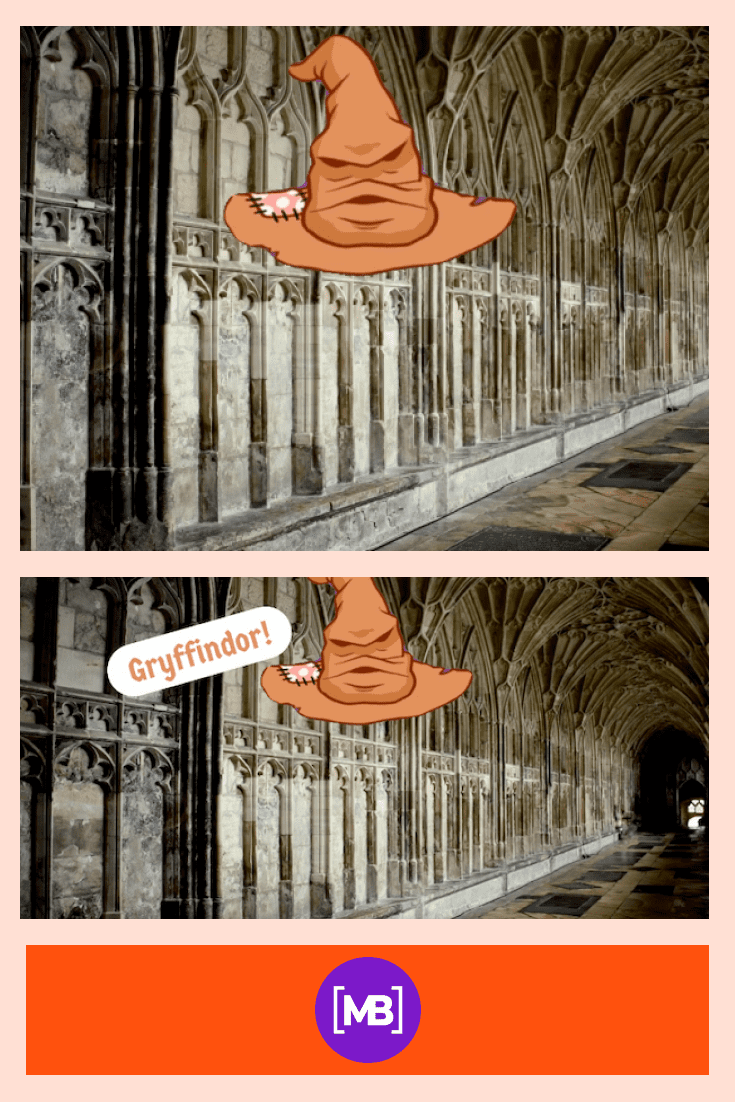 Corridor for the Gryffindors.