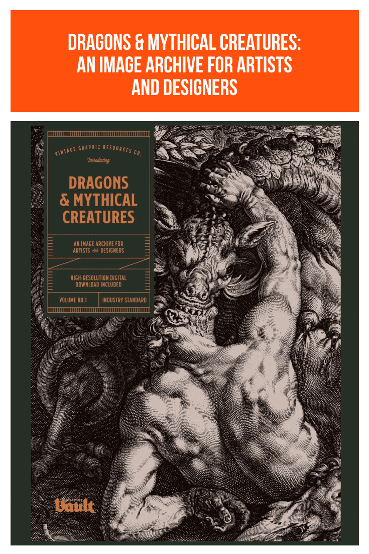 Dragons & Mythical Creatures: An Image Archive for Artists and Designers. Cover Collage.