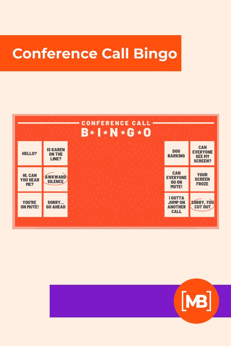 Conference Call Bingo.