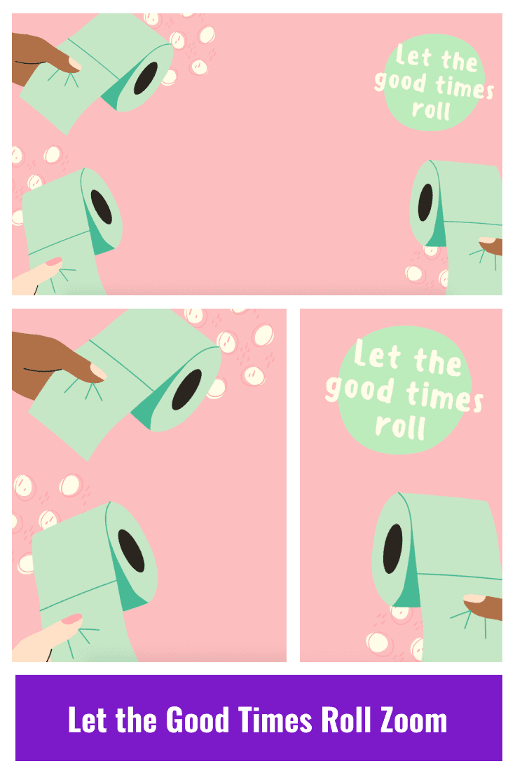 Beautiful background in pastel colors: pink base and mint colored toilet paper.