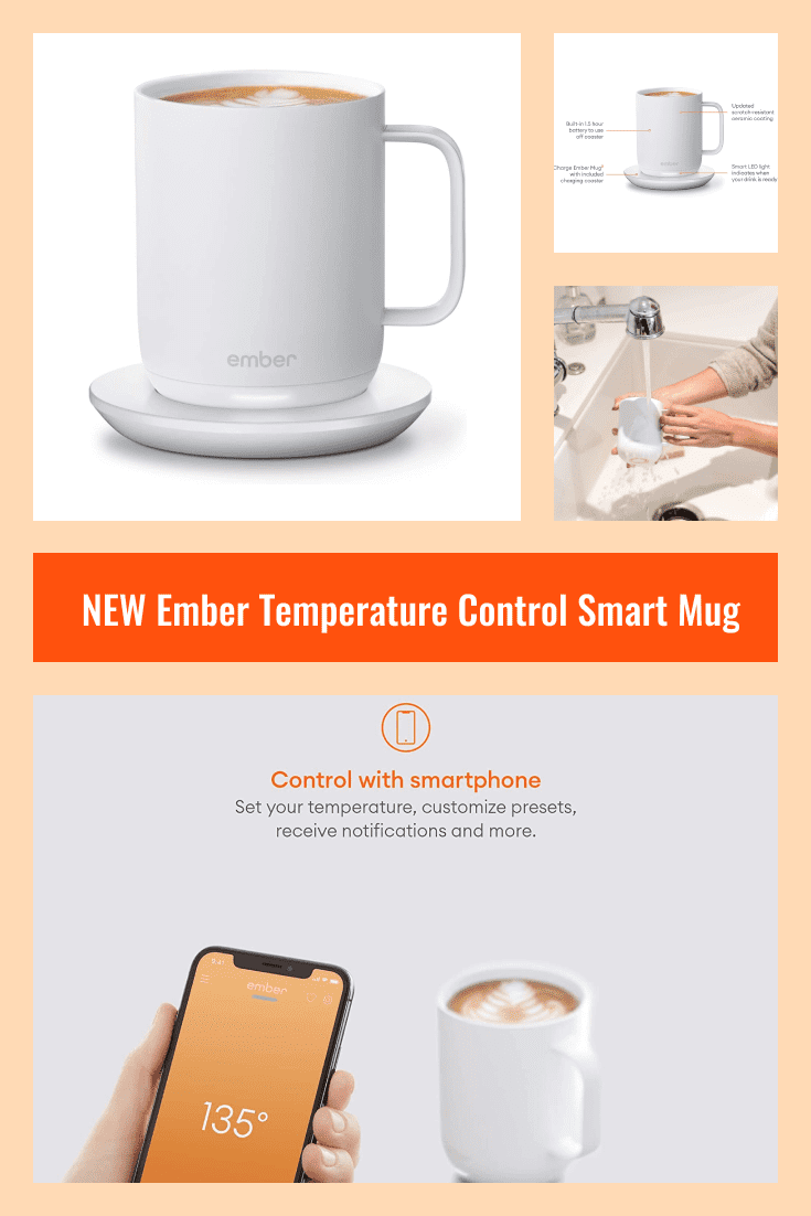 Cup with portable warmer. A very convenient and stylish device.