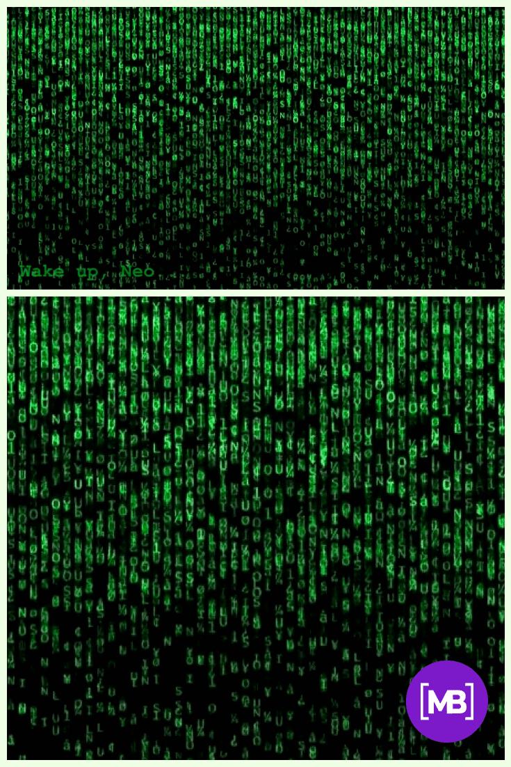 Matrix Background Zoom.