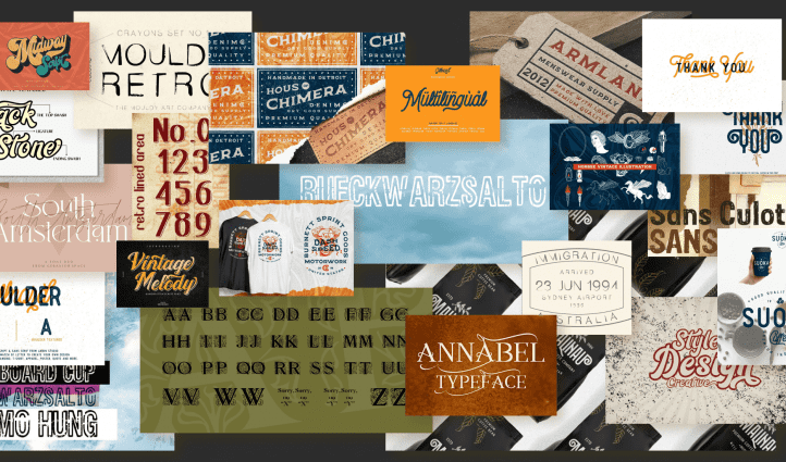 20 Inspiring Free and Premium 90s Fonts Examples.