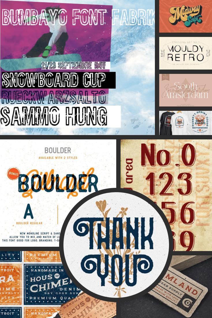 20 Inspiring Free and Premium 90s Fonts Pinterest.