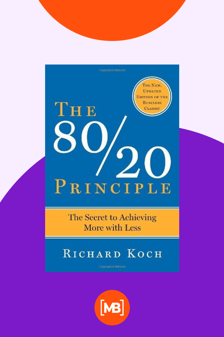 The 80/20 Principle: The Secret to Achieving More with Less by Richard Koch. Cover Collage.