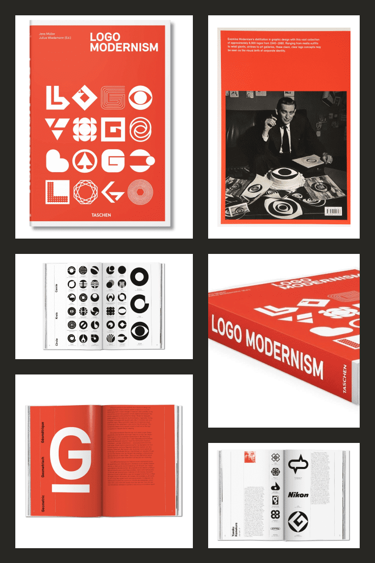 Logo Modernism by Jens Müller and R. Roger Remington. Cover Collage.