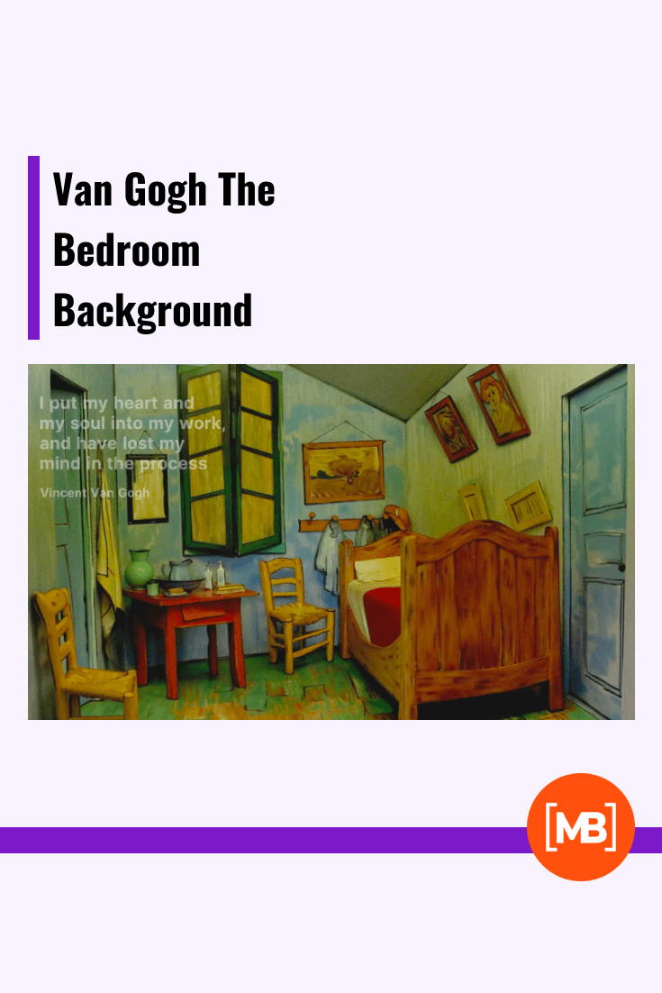 Background as a work of art in the form of a painting by Van Gogh.