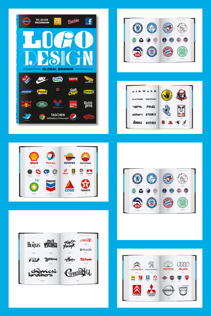 Logo Design. Global Brands by Julius Wiedemann. Cover Collage.