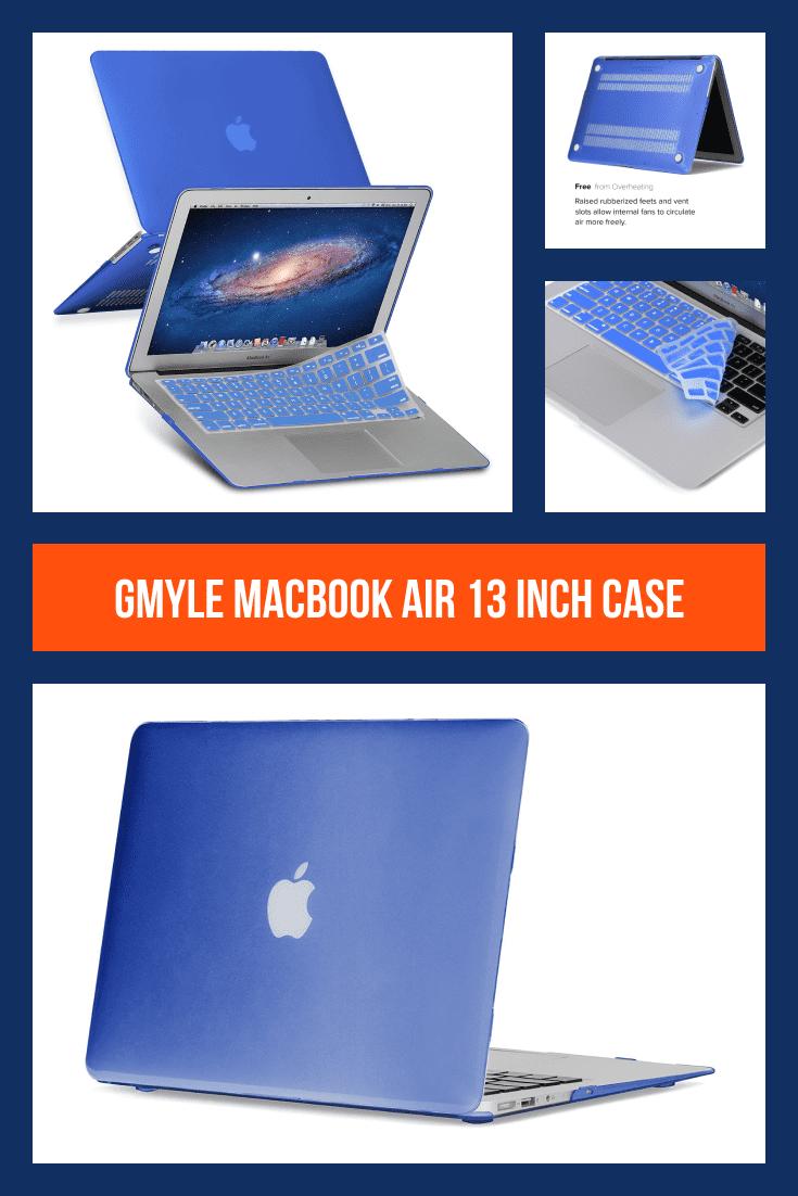 Blue MacBook case.