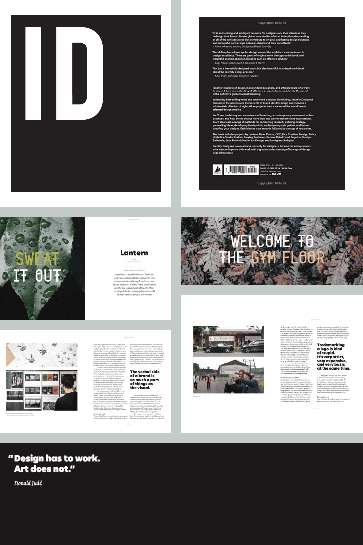 Identity Designed: The Definitive Guide to Visual Branding by David Airey. Cover Collage.