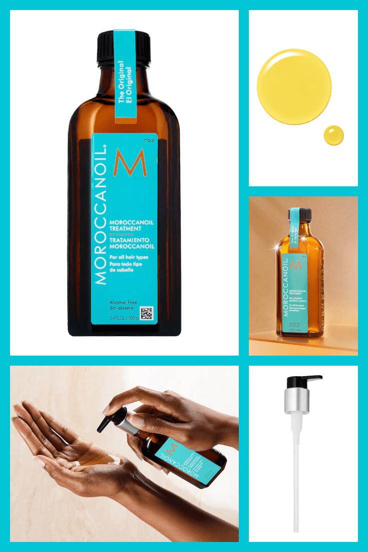 Moroccan hair oil.