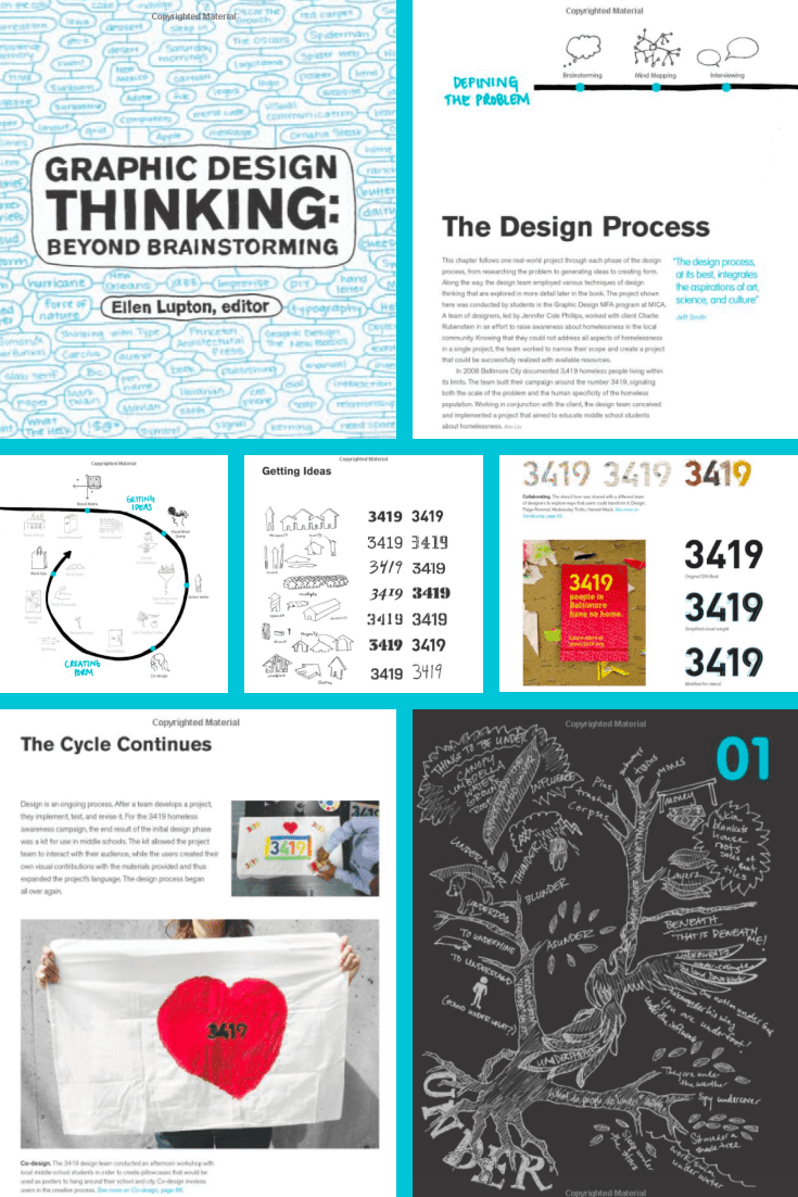 GraphicDesign Thinking: Beyond Brainstorming.Cover Collage.