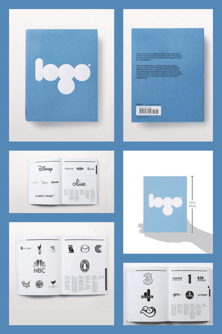 Logo: The Reference Guide to Symbols and Logotypes by Michael Evam. Cover Collage.
