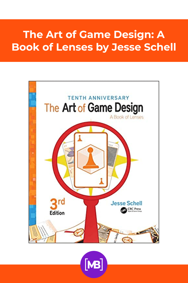The Art of Game Design: A Book of Lenses by Jesse Schell. Cover Collage.