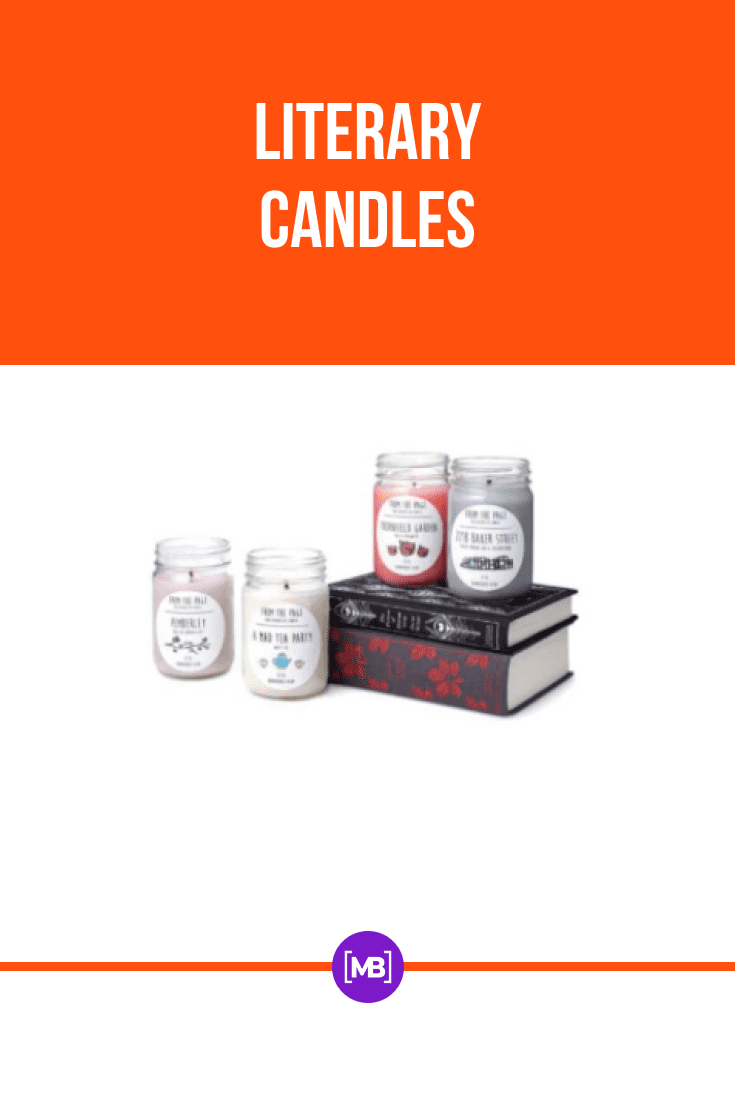 For lovers of aesthetics, these original literary candles will do.