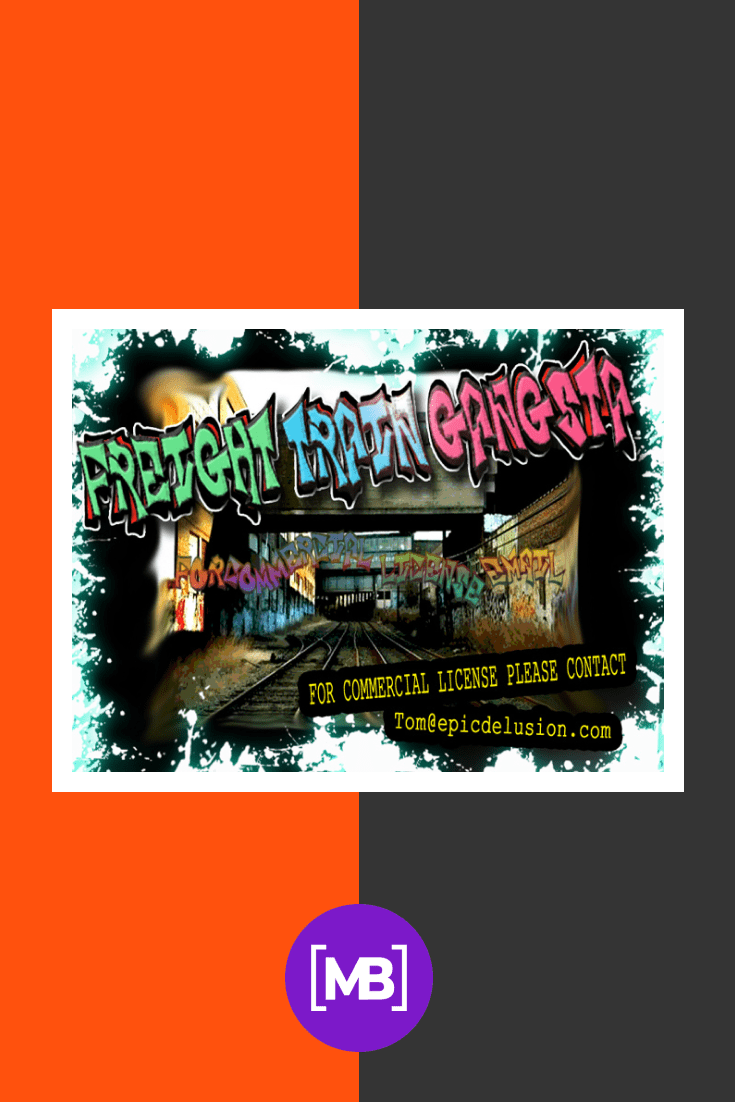 Font on the background of a subway tunnel in the style of graffiti. Gangster Fonts.