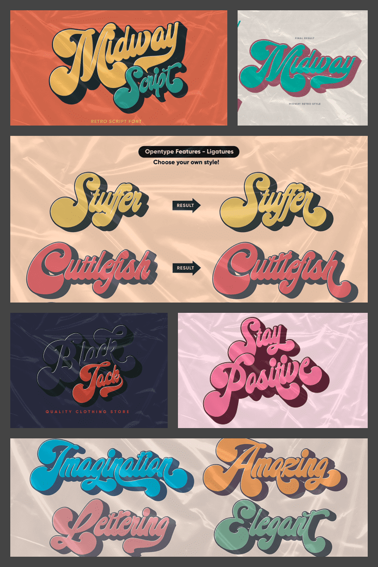 FSeveral blocks with different variations of this beautiful animated font. 90s Fonts.