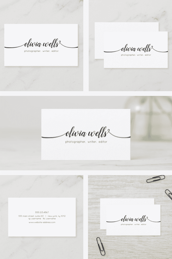 A card with a stylish and very nice font without graphics.