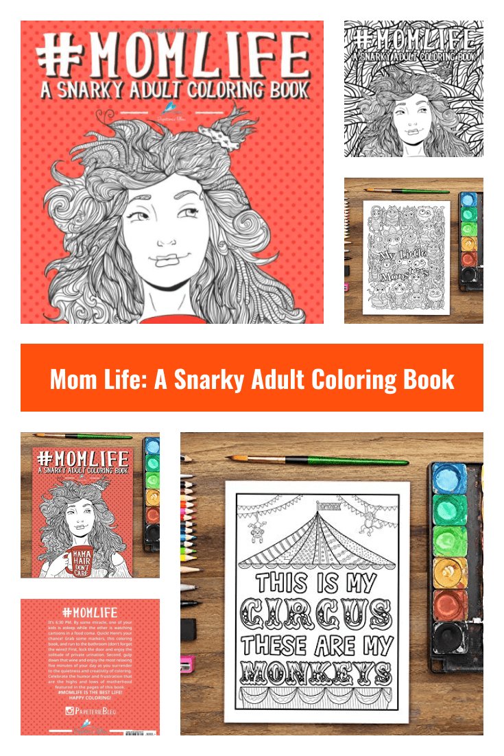 Stylish coloring in the format of a story about mom's life.