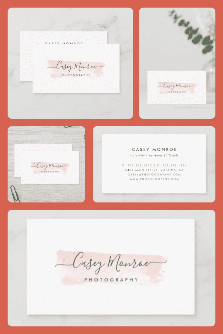 A card with a beautiful font on the background of a brushstroke without pictures.