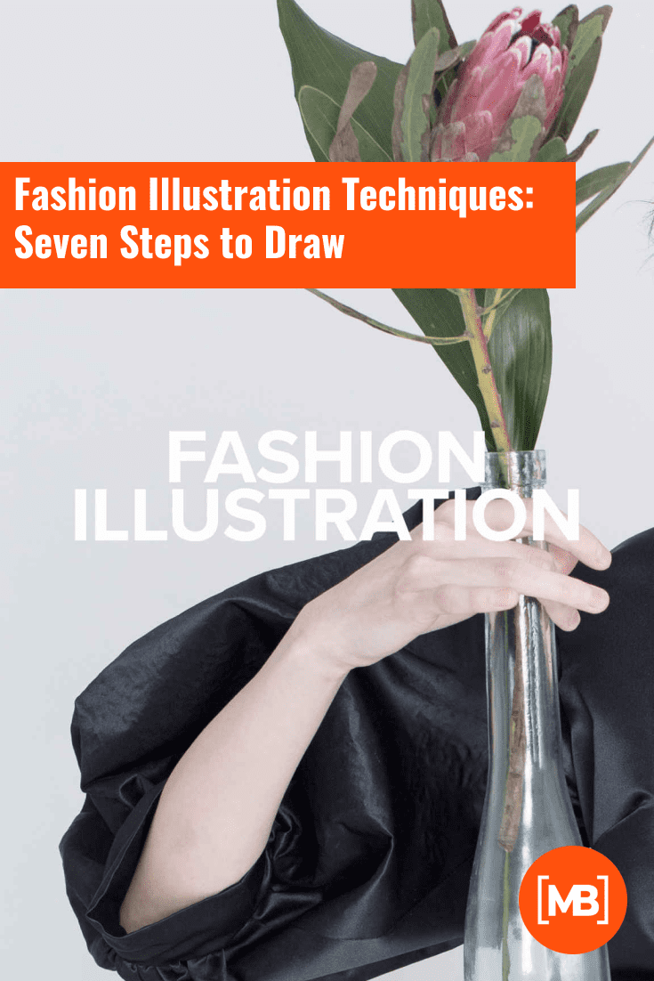 Fashion Illustration Techniques: Seven Steps to Draw.Cover Collage.