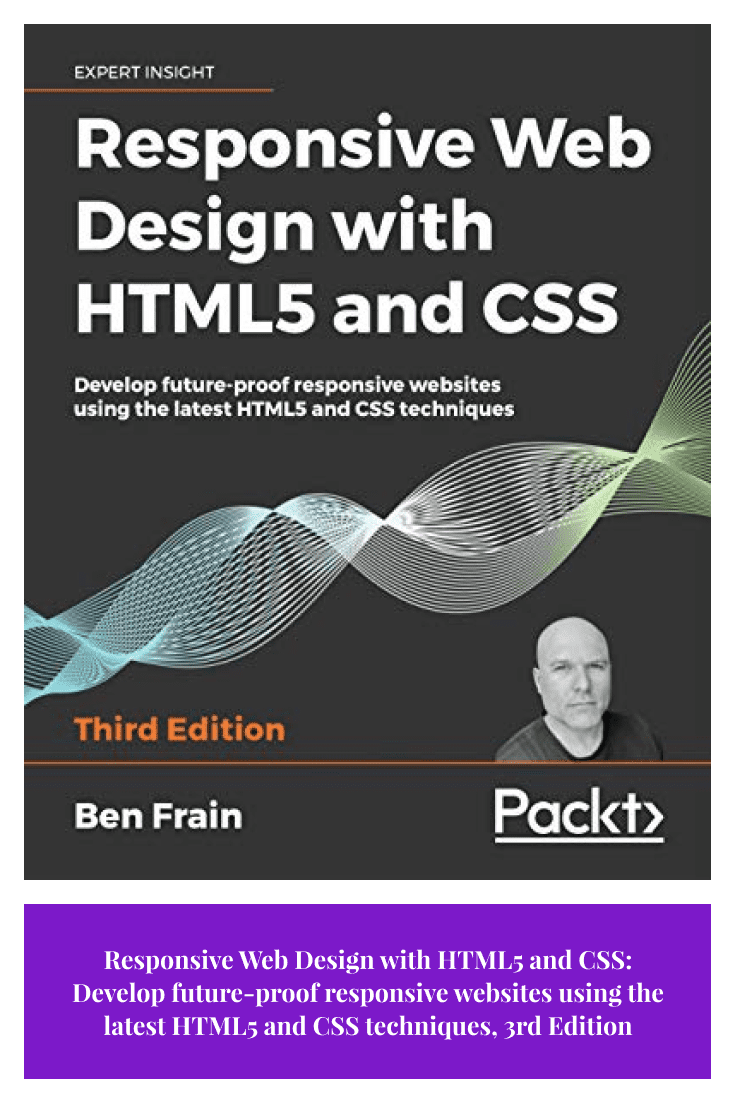 Responsive Web Design with HTML5 and CSS: Develop future-proof responsive websites using the latest HTML5 and CSS techniques by Ben Frain. Cover Collage.