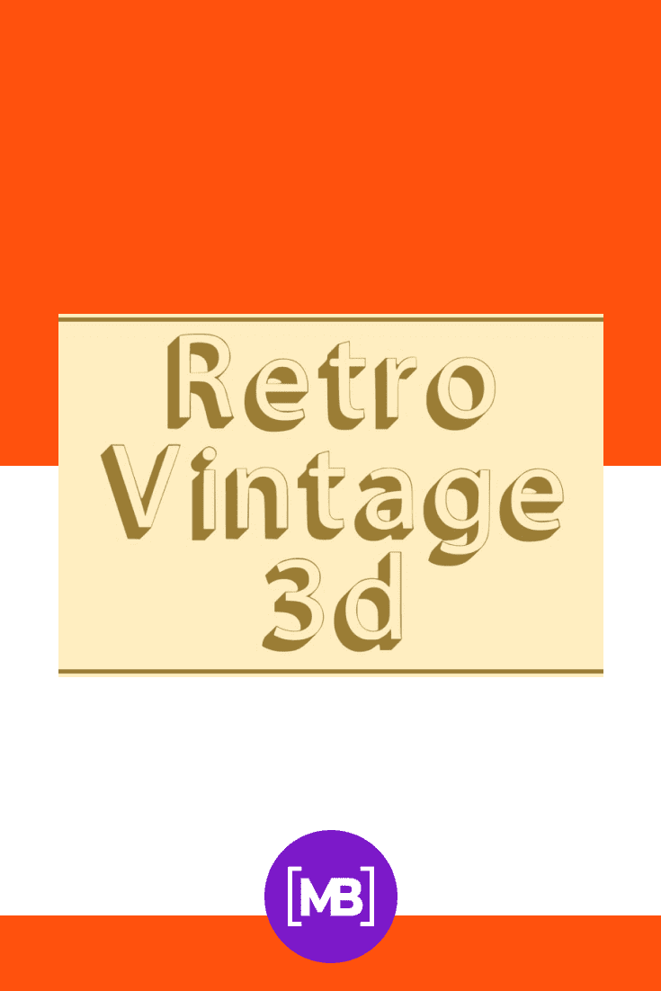 General view of the font on a gold background. 90s Fonts.