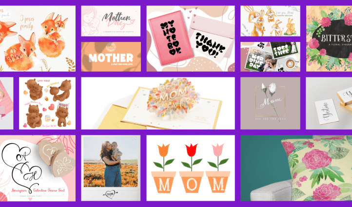 50 Mothers Day Designs 2020. Example of main image.s
