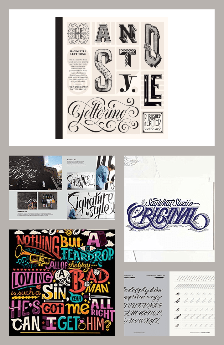 Handstyle Lettering: From Calligraphy to Typography by Viction Workshop. Cover Collage.