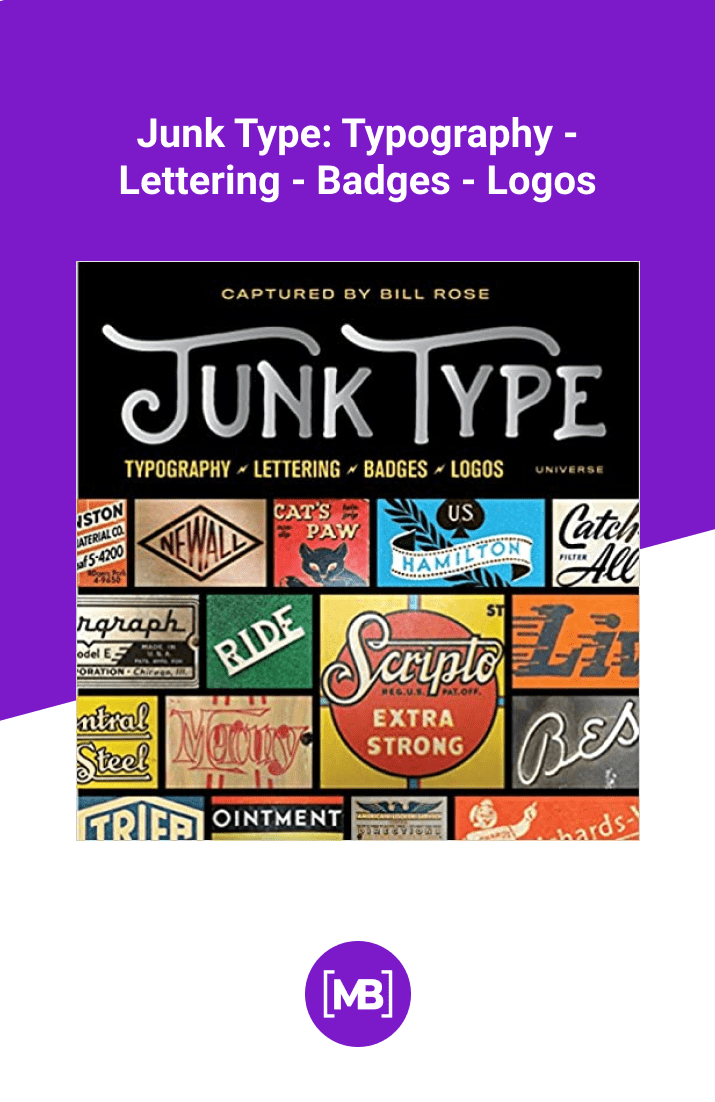 Junk Type: Typography - Lettering - Badges - Logos by Bill Rose. Cover Collage.