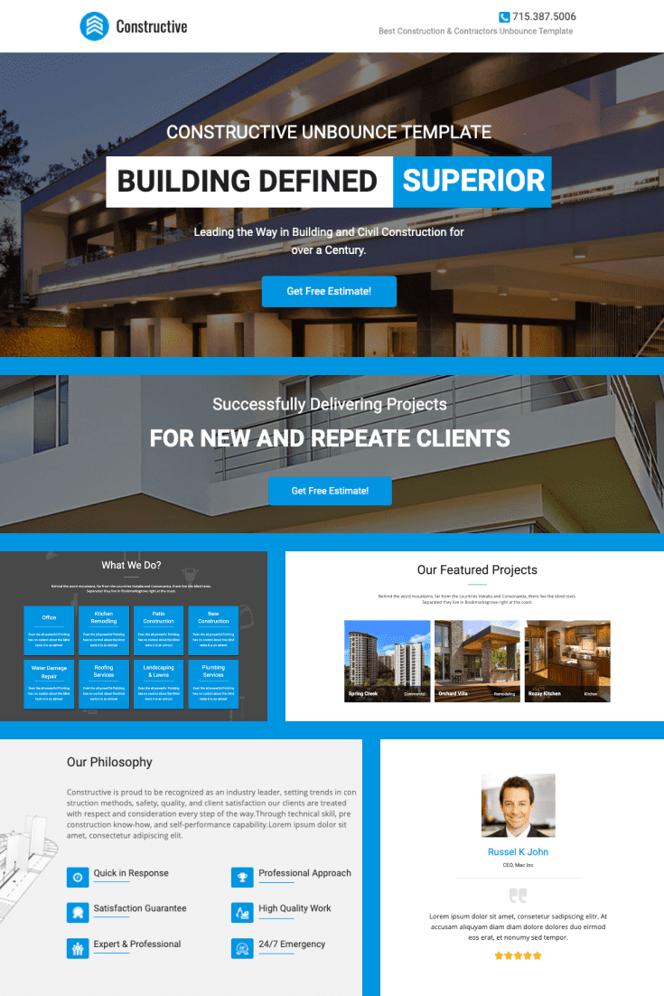 A modern and stylish template with interesting graphics solutions.
