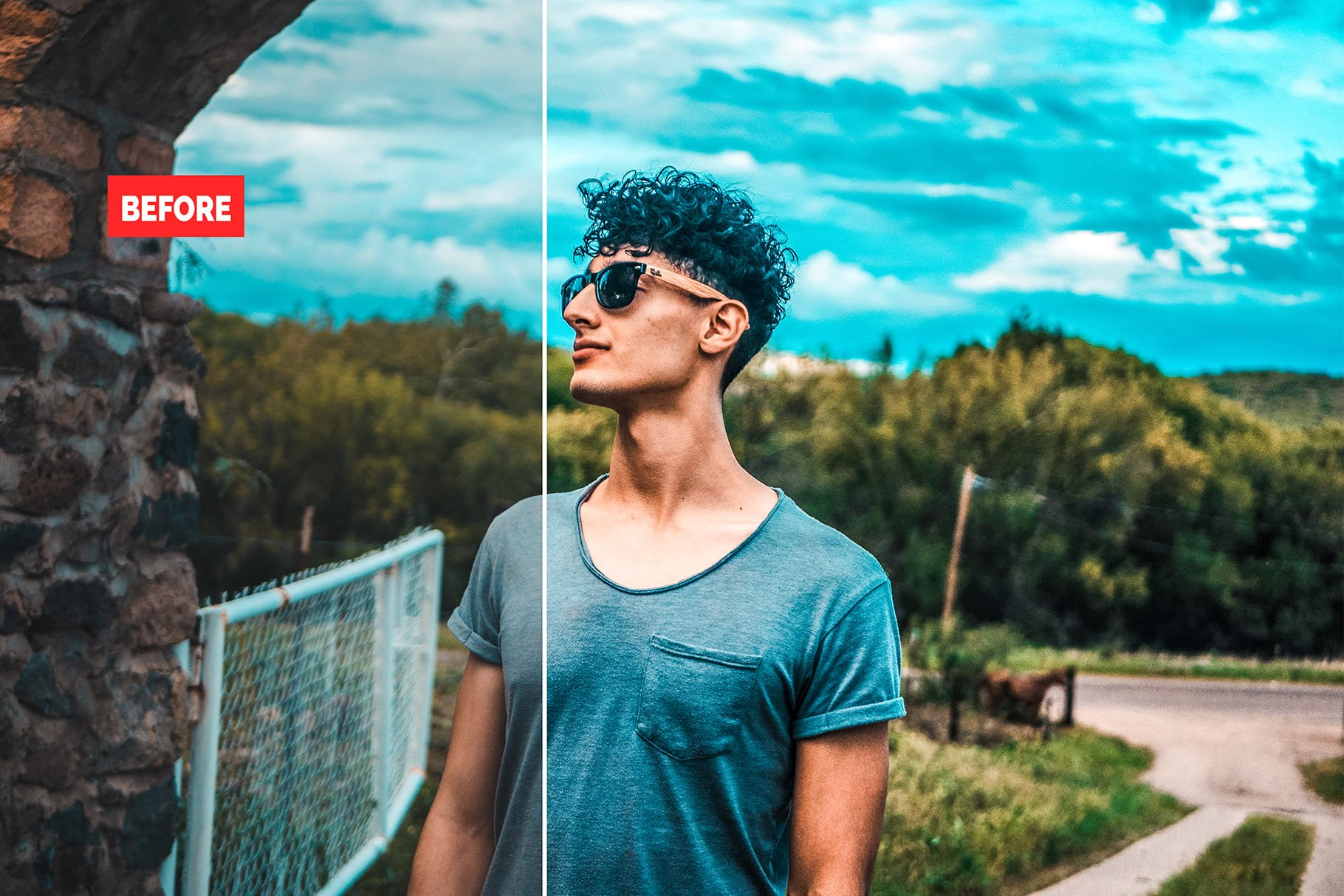 Guy's profile. 120+ Professional HDR Photoshop Actions Collection.