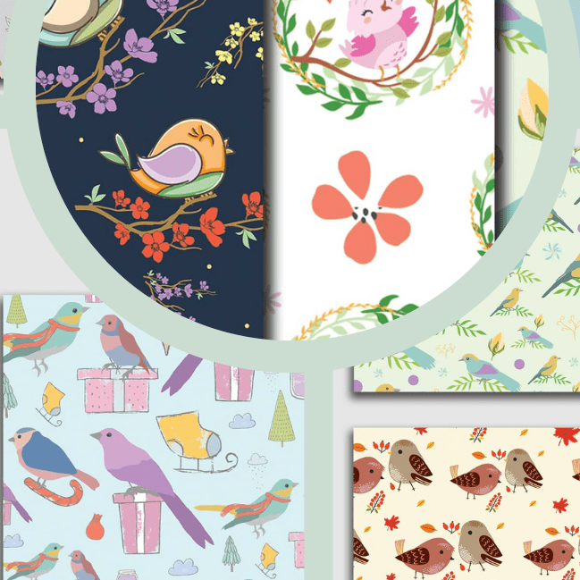 Birds Seamless Patterns Collection