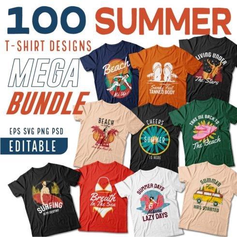 Summer T-shirts Design Example.
