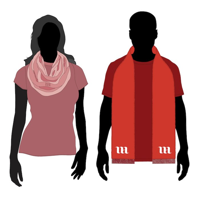 Young people in the other scarves.