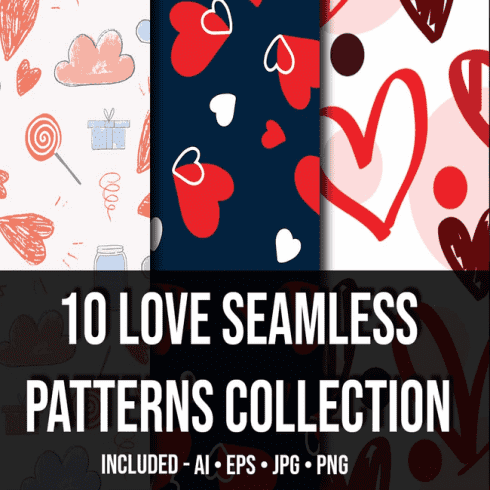 10+ Love Seamless Patterns Collection