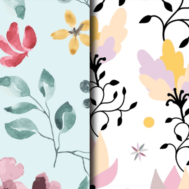 10 Floral Seamless Patterns Collection.