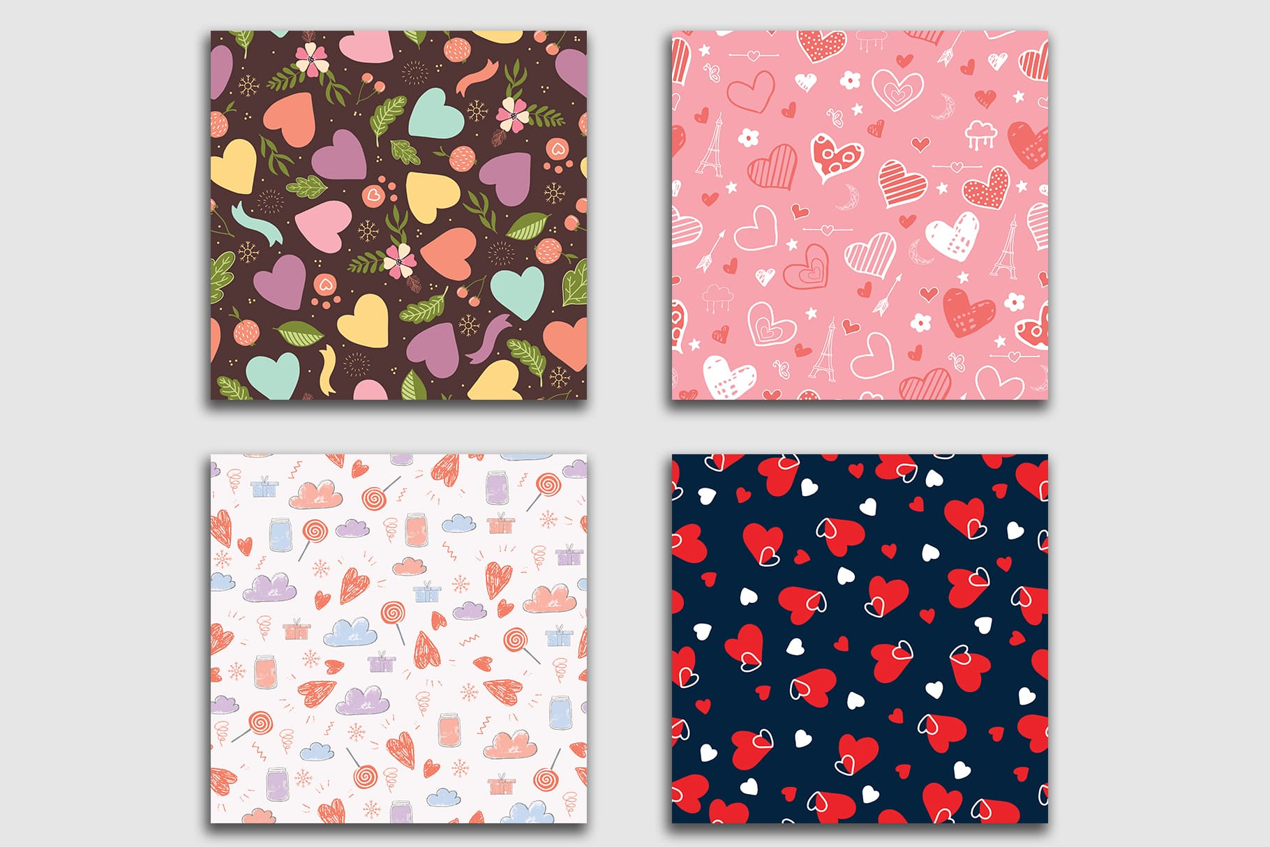 Beautiful tiles with hearts.